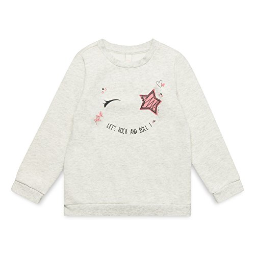 ESPRIT KIDS Mädchen Sweatshirt RM1500307, Weiß (Heather Cream 114), (Herstellergröße: 92+)