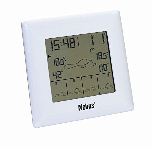 Mebus Funkwetterstation, kabellos mit 5 Tage-Wetterinformation, weiß