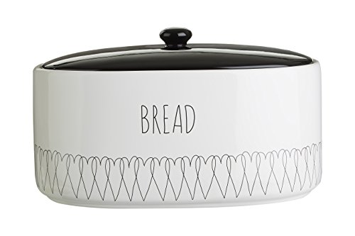 x 18cm W x22cm 32cm L Cream Extra Large Breadbox Bread Holder - Gold with Bread Lettering Extra Large Space Saving Vertical Bread Box Holds 2 Loaves H