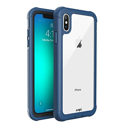 SMPL iPhone Xs Max Drop Proof, Lightweight, Protective Wireless Charging  Compatible iPhone Case - Navy