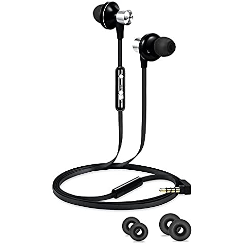 RIVERSONG ® Auricolari, Cuffie In-Ear Headset con Microfono Incorporato, Riduzione del Rumore Per iPhone & Android Smartphone con Jack da 3.5 mm - Nero