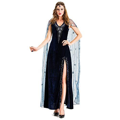 Erwachsenen Kostüm Ägyptische Für - PAOFU-Damen Ägyptisch Königin Verrücktes Kleid Kostüm Erwachsene Cosplay,Blau,M