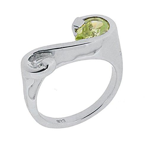 Orphelia Damen-Ring 925 Sterling Silber mit Zirkonia grn Gr.54 ZR-3382/1/54 -