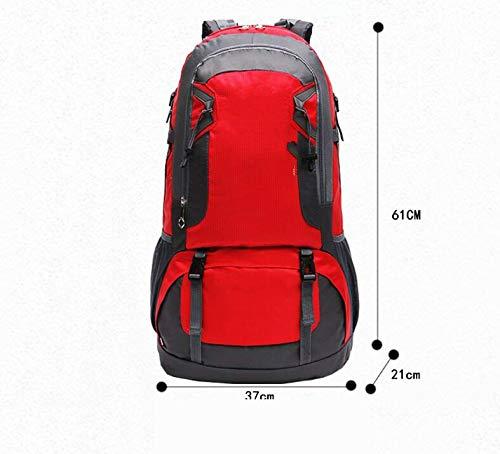 Feeling-joy, 60 l, atmungsaktiv, Wanderrucksack, atmungsaktiv, Camping, Outdoor-Sport-Rucksack (rot)