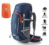 CAMEL CROWN 45L Wanderrucksack Wasserdicht Trekkingrucksack mit Regenschutz Reiserucksack Sportrucksack Rucksäck Reißfest Klettenrucksack für Herren Damen Outdoor Bergsteigen Camping Reisen