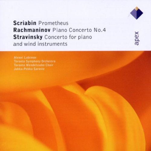 Rachmaninov : Piano Concerto No 4 - Stravinsky : Concerto for Piano and Wind Instruments - Scriabin : Promethee by Alexei Lubimov and Toronto Symphony Orchestra and Saraste (2002-04-08)