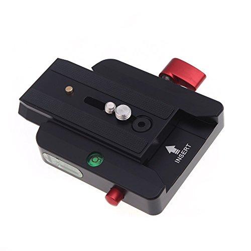 Andoer 577 Rapid Connect Adapter Klemme mit QR Platte 501PL für Manfrotto Stativkopf 701HDV (Adapter Schiebe-platte)