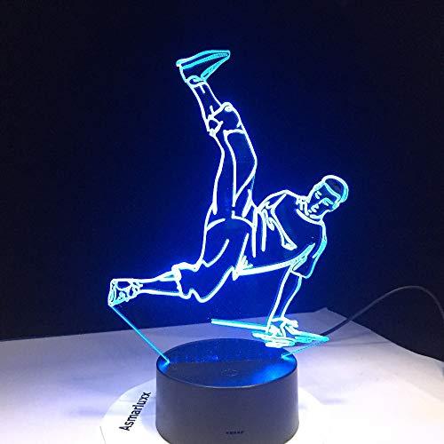 Street Dance Usb 3D Led Nachtlichter 7 Farben Led 3D Lampe Disco 3D Deko Licht Hip-Hop Kultur Breaking Locking Popping