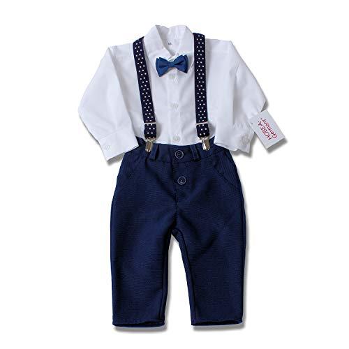 HOBEA-Germany Taufanzug Jungen, Taufkleidung Junge, Anzug Baby Junge für die Taufe für Babys und Kinder (80, Jonas)