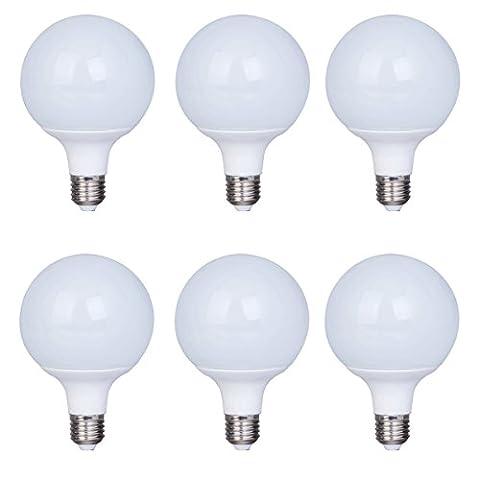 6 paquet Non-dimmable 10w (75w équivalent) Lampe LED A98 Ampoules E27 Base Angle de faisceau de 270 degrés (White 4000K)