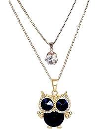 Celena Cole Long Chain Western Wear Pendant Necklace For Women & Girls
