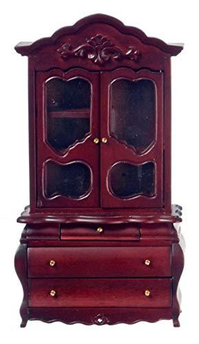 Viktorianischen Esszimmer-möbel (Town Square Miniatures Puppen Haus Ausgeffalen Viktorianisch Bombe Kommode Mahagoni Esszimmer Möbel)