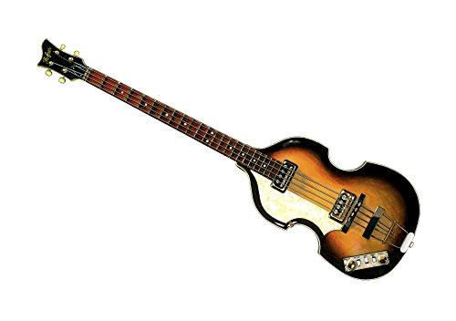 Paul McCartney 1963 Hofner 500/1 Violín bajo - IMPRESIÓN del CARTEL Tamaño A1