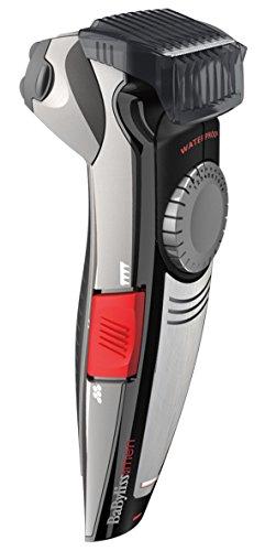 BaByliss E890E - Recortadora de barba y maquinilla de afeitar eléctrica, 21 alturas de corte, precisión 0,5 mm, 45 min autonomía
