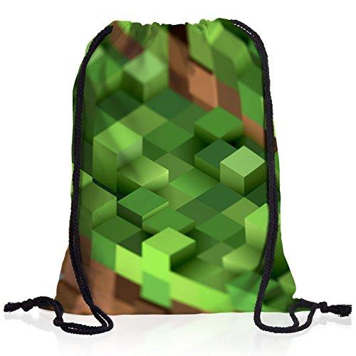 A.N.T. Mine Cube Rucksack Tasche Turnbeutel Sport Jute Beutel block würfel spiel game (Schulen Lego)