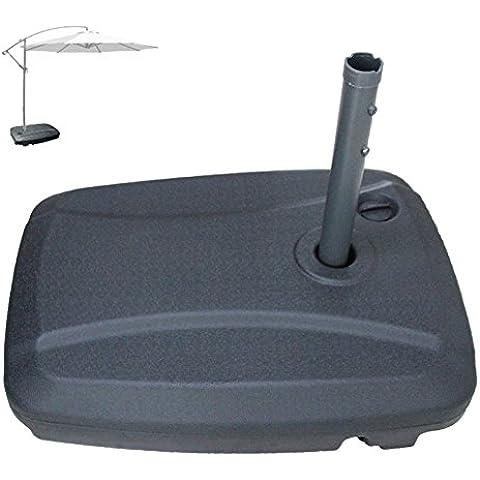 uscanopy compensar Parasol de Patio de base universal preponderado al Peso Capacidad–de plástico–Soporte para llenar con agua o arena, Negro, 60L