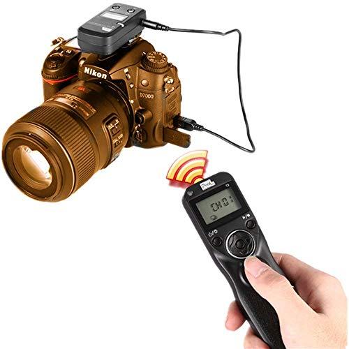 PIXEL T9-DC0 / DC2 LCD 2.4GHz Control remoto con Temporizador de Disparo Disparador con dos Cables para Nikon D300s, D3X, D3, D700, D300, D200, D7200, D7100, D7000, D550 (DC0 / DC2)