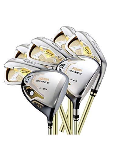 HDPP Golfschläger Herren 3 Sterne Compelete Schlägerset Driver + 3/5 Fairway Holz + Eisen Graphite Golfschaft Golfschläger -