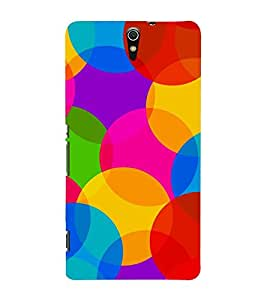 OVERLAPPING CIRCULAR PATTERN 3D Hard Polycarbonate Designer Back Case Cover for Sony Xperia C5 Ultra Dual :: Sony Xperia C5 E5553 E5506 :: Sony Xperia C5 Ultra