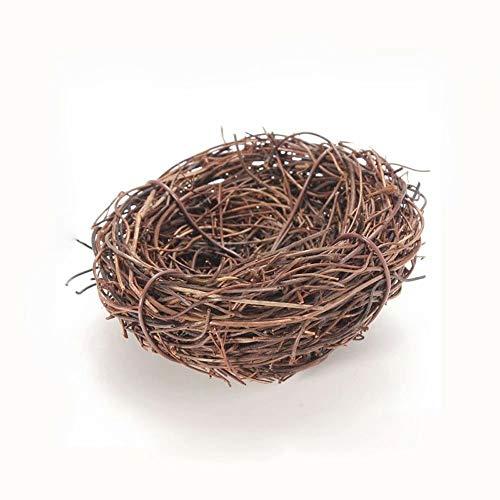 Niedliche gewebte braune handgemachte Rebe Vogelnest Haus Natur Handwerk Dekor