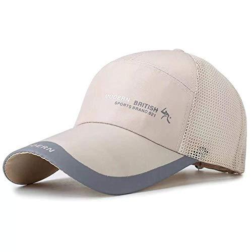 shunlidas Hüte Dekorationen Fischerhutsonnenschutz Visier Hut Atmungsaktiv Mesh Hut Outdoor Sonnenschutz @ Beige_Adjustable Beige Mesh-hut