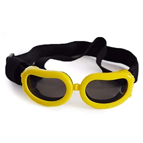 HUYDLD Heimtierbedarf Hund Sonnenbrille Faltbare Haustier Hund Brille Windschutzbrille Für Kleine Und Mittlere Haustier Accesseries Heimtierbedarf Gelb