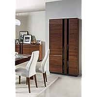 Alkove Malvern Solid Wood Wardrobe, 95 x 198 x 60cm, Antic Oak Effect