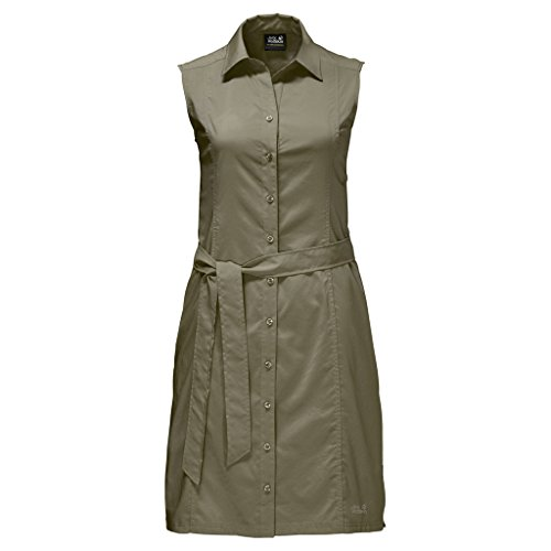 Jack Wolfskin Damen Sonora Dress Kleid, Burnt Olive, XXL - Olive Damen Kleid