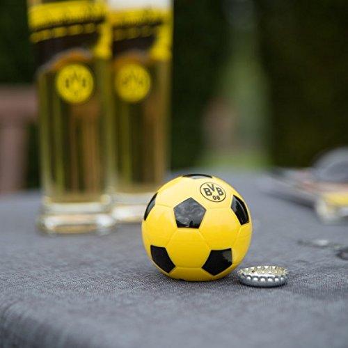 Borussia Dortmund BVB Flaschenöffner mit Sound, Metall, Schwarz/Gelb, 6 x 6 x 6 cm