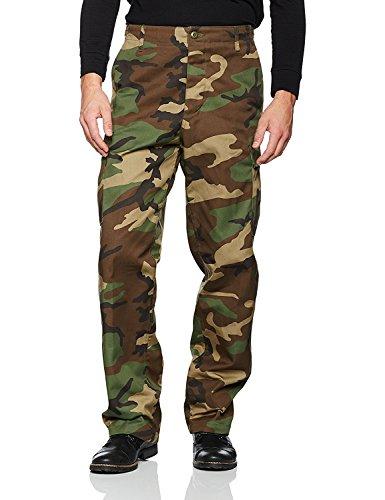Mil-Tec Herren US Rangerhose 4 Farben ZUR Wahl verbesserte Qualität, Woodland, L -