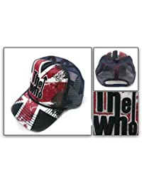 The Who Music Band Hat - Union Jack Logo Embroidered Printed Soft Mesh Trucker Adustable Cap