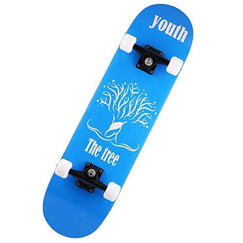 Skateboards Cruiserboosted Board 7-stöckiges Ahorndeck für Erwachsene für Erwachsene, Kinder-Skateboard für Anfänger und Profis,F ()