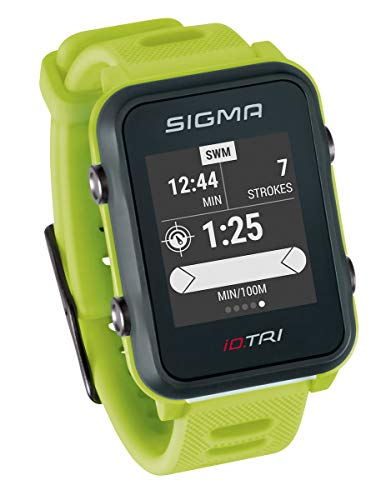 Sigma Sport ID.Tri Basic Reloj de triatlón GPS, Unisex-Adult, Neon Green,