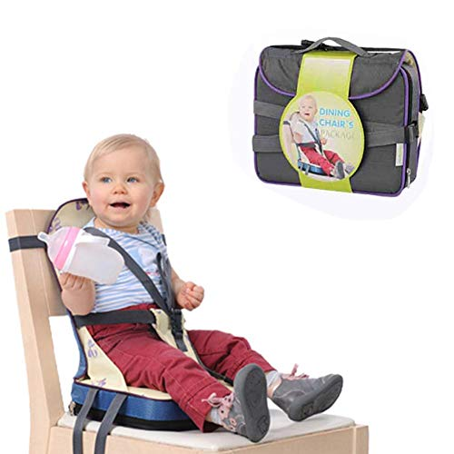 Dream-cool Travel Booster Sedile Baby Sedia da Pranzo Sedia Portatile Bag Portable Bavaglino Mummia Sacchetto in Tessuto Oxford Impermeabile Baby Nurse Bag Yellow