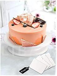 LIBAH™Cake Decorating Rotating Cake Turntable Revolving Cake Stand Sugar-Craft, 28 cm, Cake Tools Decorating 3