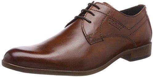 Fretz Men Oskar, Zapatos de Cordones Derby para Hombre, Negro (Dark Grey 22), 39 1/3 EU