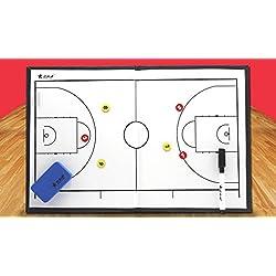 Panel del gráfico de Sandbox de tácticas del baloncesto de entrenadores carpeta pizarra magnética de la formación