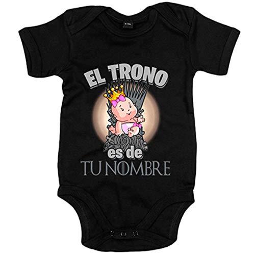 Body bebé Juego de Tronos el trono es de niña personalizable con nom