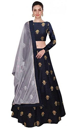 Lovisa Fashion Lehenga Choli (appubue_Blue_Free Size )