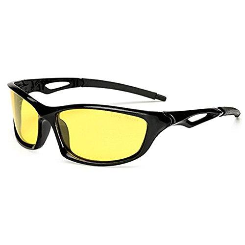 Nachtsicht Sonnenbrille für Radfahren Laufen Angeln fahren Männer und Frauen gelbe Linse