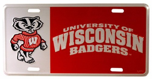 NCAA Wisconsin Badgers Car License Plate by Game Day Outfitters