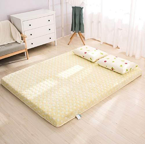 EEvER Schlafmatte Bequeme Matratze Verdickte Tatami-Fußmatte, Memory-Foam-Bodenmatratze, Queen-Size, Einzelgröße, Schlafsaal, gelb, 120 x 190 cm, 47 x 75 Zoll. -