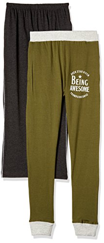 Cloth Theory Boys' Trousers (Pack of 2)(ICWN BTRT 008_Multicolour_9-10 Years)