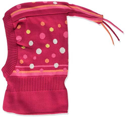 maximo Baby-Mädchen Schlupfhaube mit Punkte und Zipfel Mütze, Mehrfarbig (DarkPink/Fandangopink 4260), (Herstellergröße: 49)