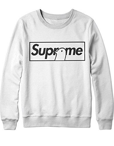 Sweatshirt Supreme Bird H100020 Weiß L