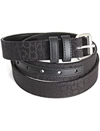 Calvin Klein femmes ceinture en tissu jacquard avec logo noir 95