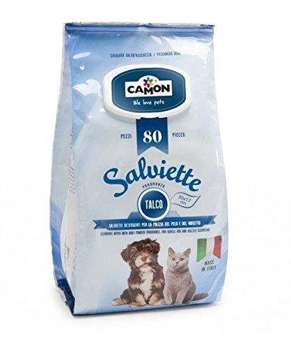 5 Confezioni Salviettine igieniche cane\gatto maxiformato 80pz TALCO.