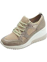 51ec27e3b1 IGI&CO Sneakers Donna in Scamosciato e Tessuto Beige Zeppa Interna Alta