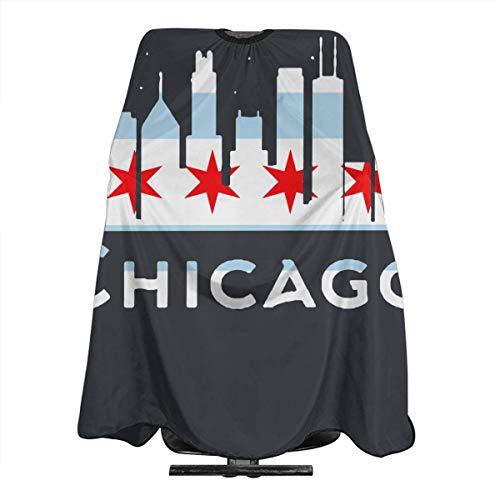 Chicago City Flag Skyline USA Wasserdichte Professionelle Frisierumhang Frisierumhang Friseurumhang Friseurumhang Friseurschürze Chicago Küche