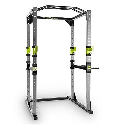 Capital Sports Tremendour Power Rack Cage à squat (rack de musculation avec barre de traction pour tous types d